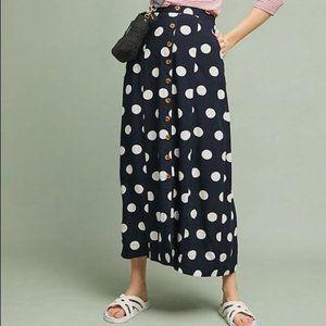 Maeve Claudette Polka Dot Maxi Skirt NWT 14